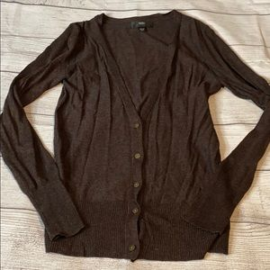 deep chocolate brown cardigan